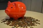 Spenden aus dem ersten geleerten Sparschwein.