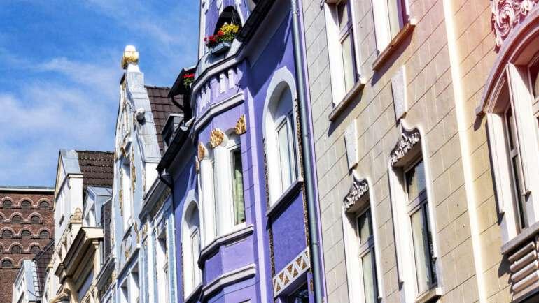 Häuserfassade in Leverkusen